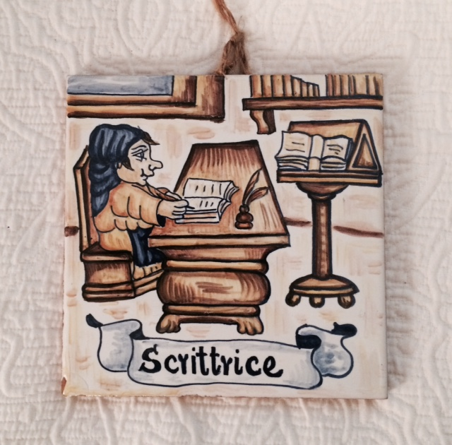 A decorative tile for writers.