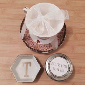 Antique teacup and tea.