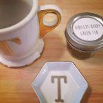 A specialty mug and tea.