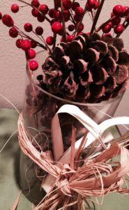 Shop at Michaels or a craft store, and get some easy accents for the holiday.
